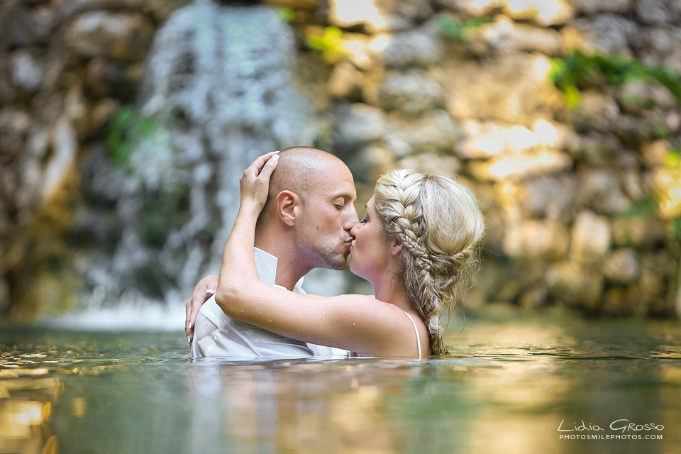 cenote trash the dress Cancun photographer