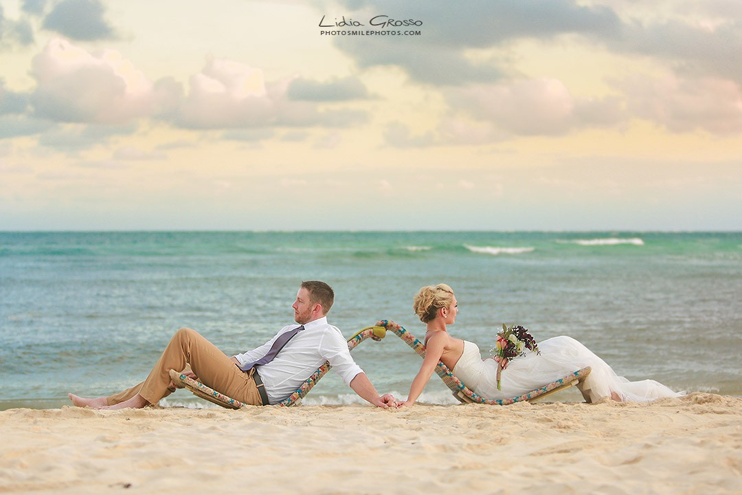 Destination beach wedding Secret Silversands Riviera Maya