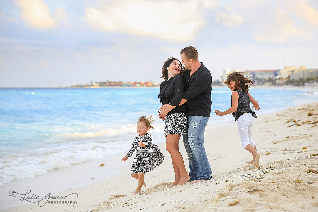 Family Portrait Cancun Royal Solaris beach