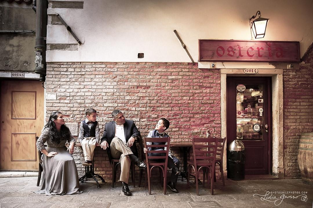 Family Portrait Venezia, Ritratto famiglia Venezia Italia