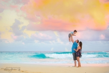Cancun beach family portrait
