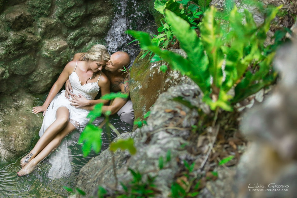 Trash the dress cenote sessions Riviera Maya