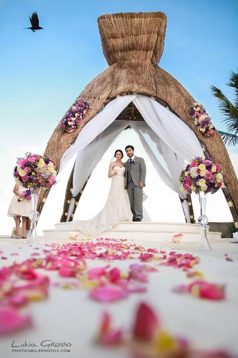 Dreams Riviera Maya gazebo wedding photos