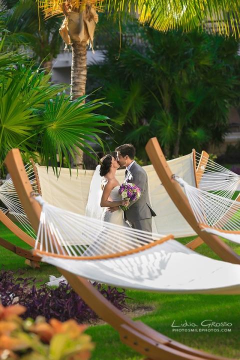 Dreams Cancun hammocks wedding photos