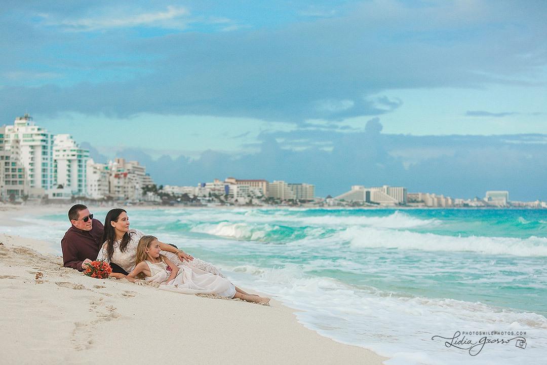 family portrait Cancun Westin Regina