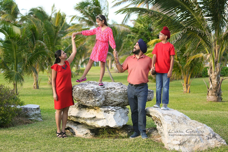 Cancun Indian family portraits