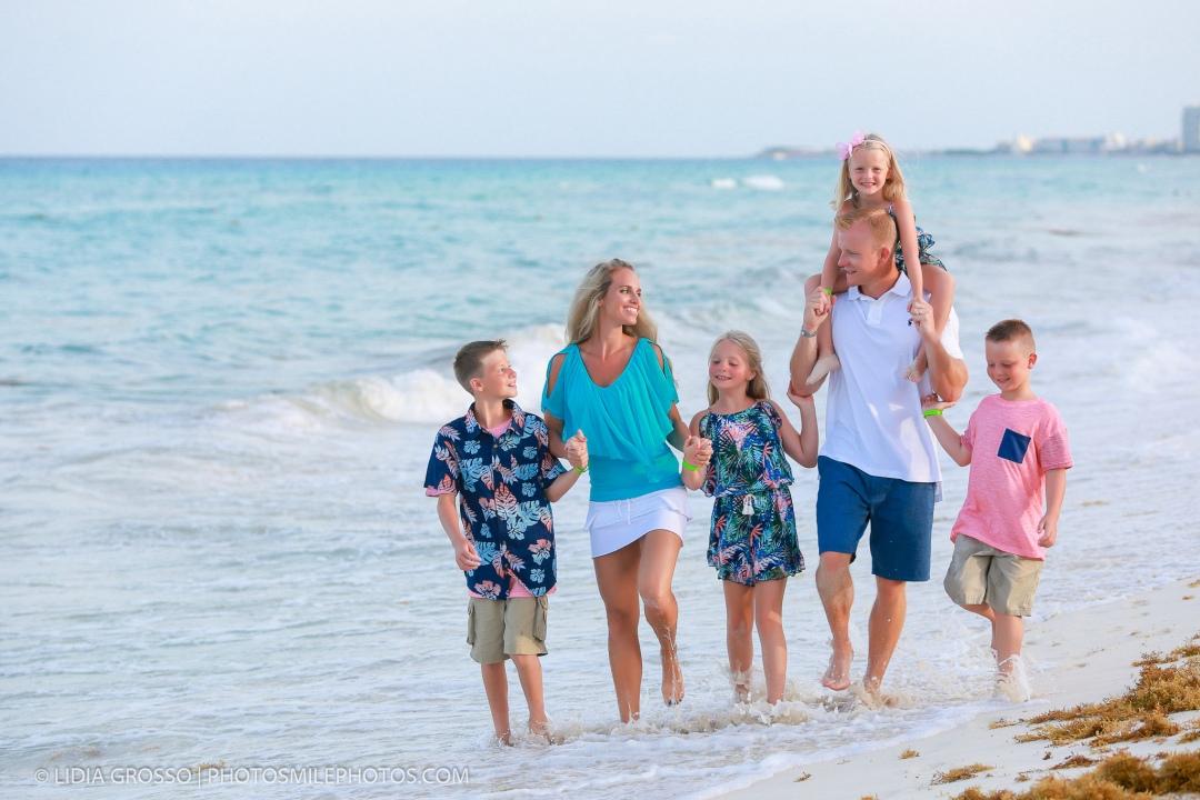 family portrait Hard rock Cancun
