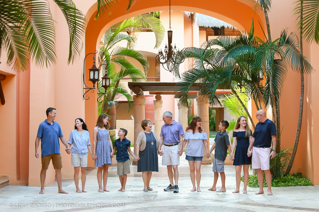 Barcelo Maya family portrait