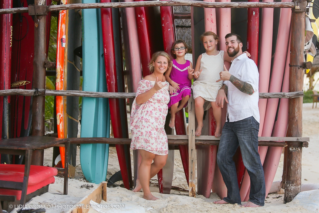 Mia Reef family photos Isla Mujeres