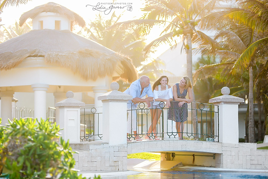 JW Marriott family portrait Cancun