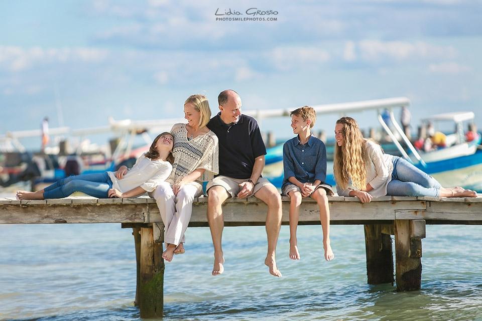 family portrait Puerto Morelos