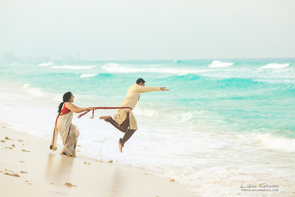 Indian post weddings photos Cancun