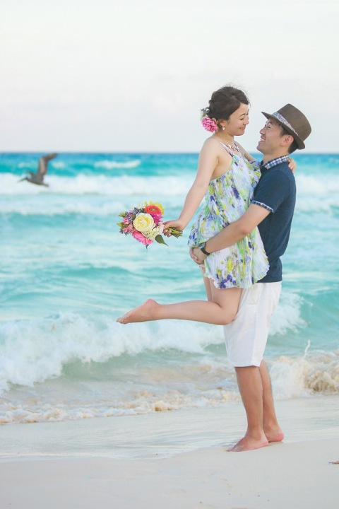 Korean post wedding photography  Cancun