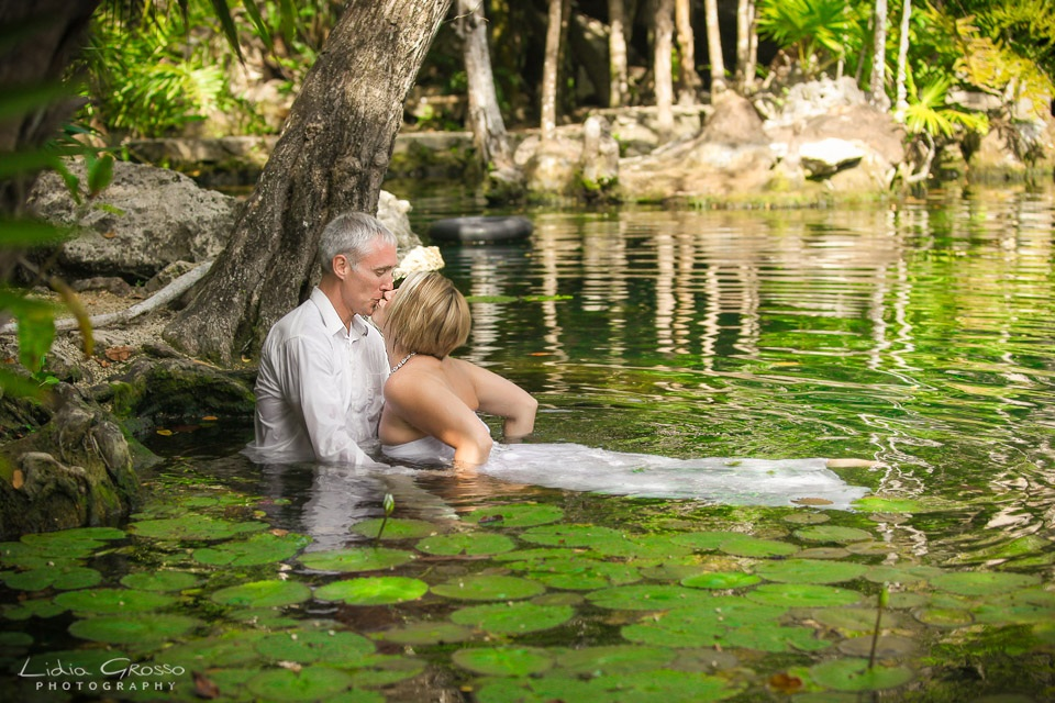 Cenote wedding trash the dress sessions