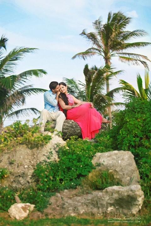 Indian couples portraits Cancun