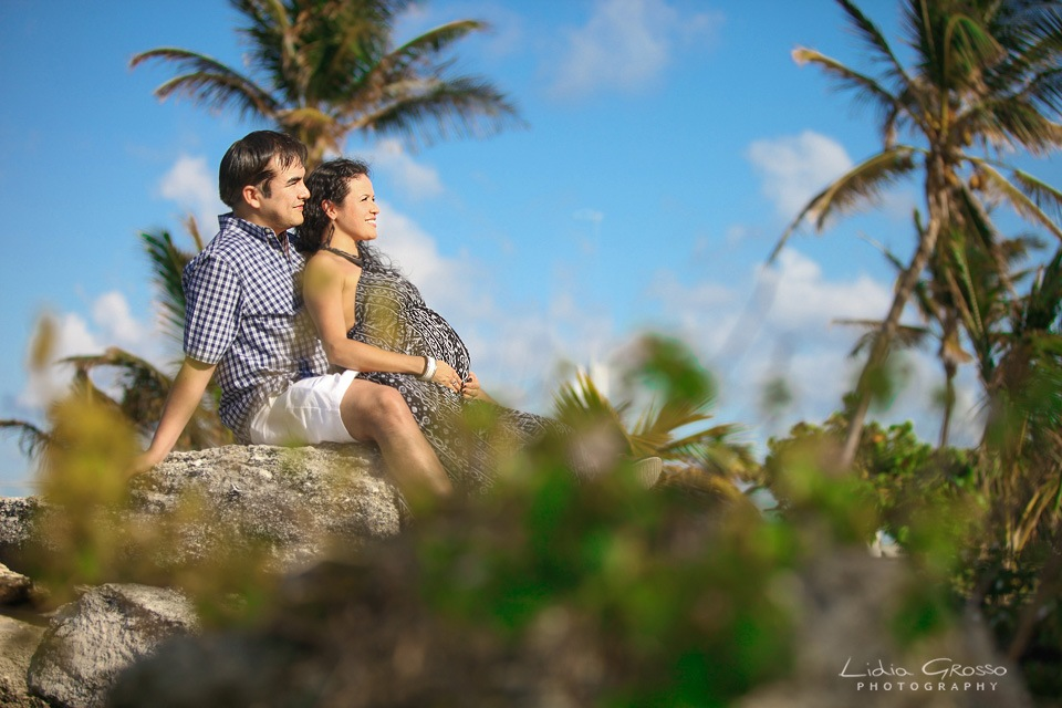 Playa delfines maternity session